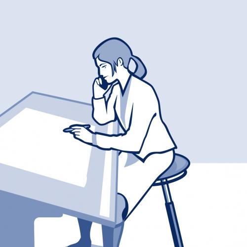 MOIZI 20 Illustration Büro Praxis<br> JPG | 1126 x 1588 px | 1,1 mb