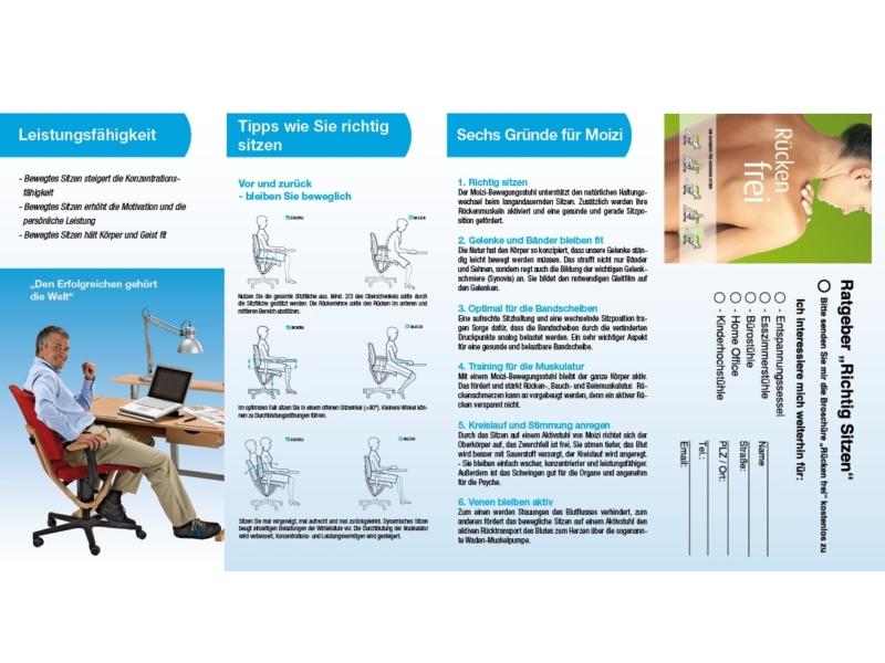 MOIZI Flyer Büromöbel | Rückseite - Variante mit Rückenfibel<br>Ansichtsbild | JPG | 456 KB