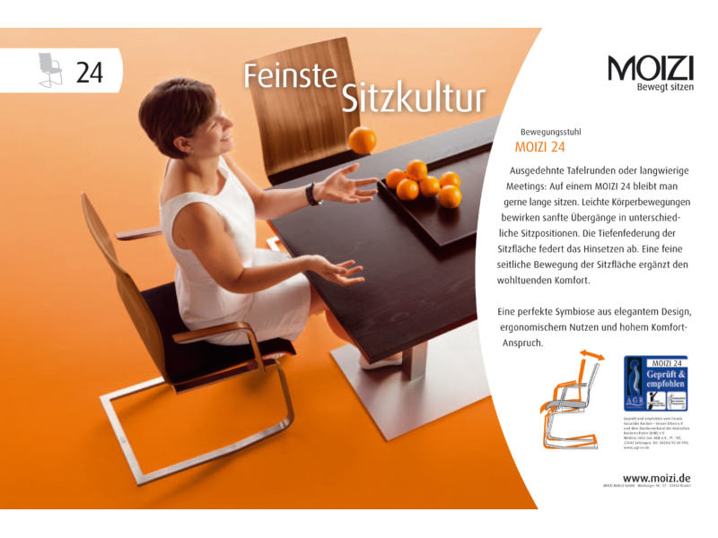 "Anzeige ""Feinste Sitzkultur"""" MOIZI 24<br>JPG | RGB | 210 x 141 mm | 300 dpi | 426 kb"