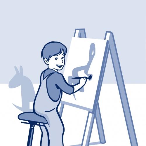 MOIZI 20 Illustration Schule Kinderzimmer <br>JPG | 1205 x 1546 px | 1,3 mb
